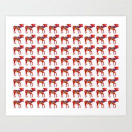 Graphic Dala Moose Multiples Art Print