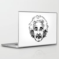 einstein Laptop & iPad Skins featuring EINSTEIN by James Vickery