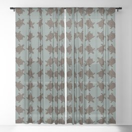 Lo Shu Turtle Sheer Curtain