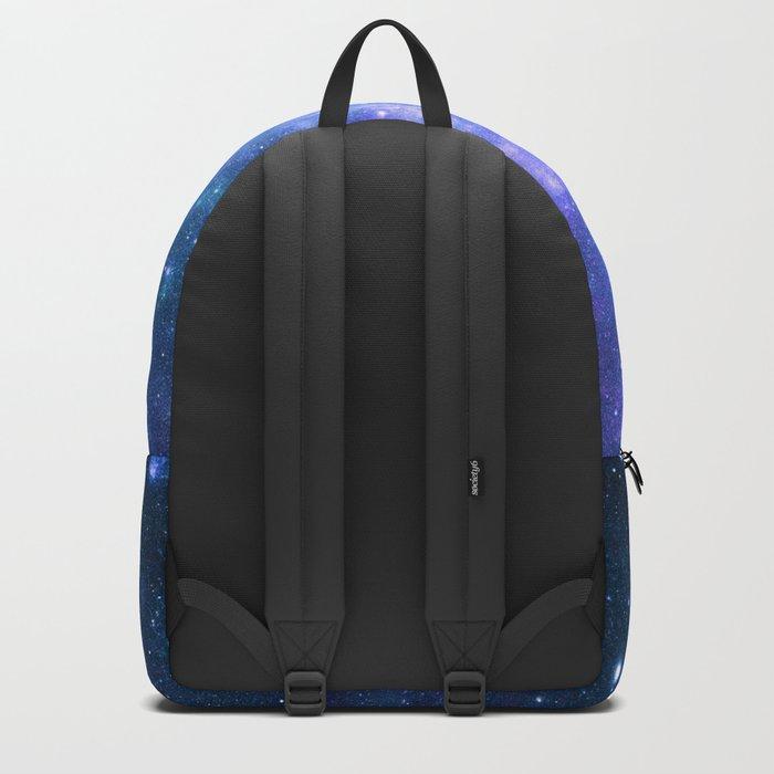 Violet Teal Galaxy Nebula Backpack