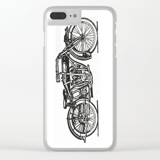 Motorcycle 2 Clear iPhone Case