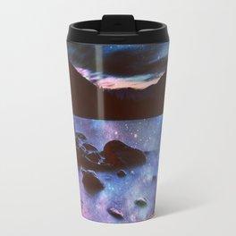 Magical Mountain Lake Deep Cool Tone Travel Mug