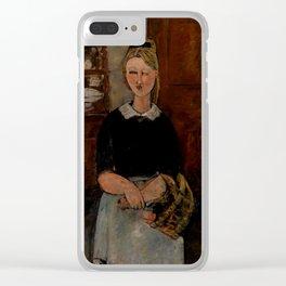 "Amedeo Modigliani ""The Pretty Housewife (La Jolie ménagère)"" Clear iPhone Case"