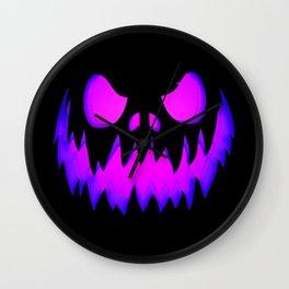 Purple Halloween Pumpkin Wall Clock