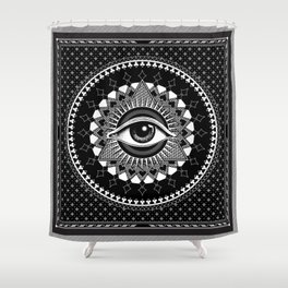 The Eye of Providence Shower Curtain