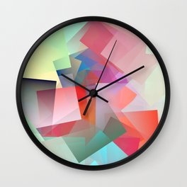 Cubism Abstract 187 Wall Clock