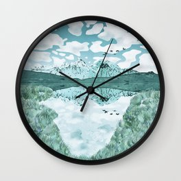 The turquoise lake Wall Clock