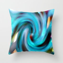 colourful sprial Throw Pillow