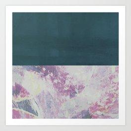 Bit of Brushstroke - Teal & Pink Art Print