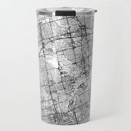 Toronto White Map Travel Mug