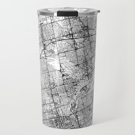 Toronto White Map Travel Mug