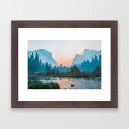 Pastel Yosemite #society6 #buyart Framed Art Print