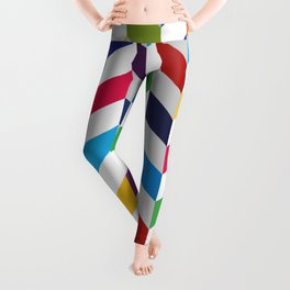 Abstract Art 19-14 Graphic fine art zigzag sweet colorful random Geometry pattern Leggings