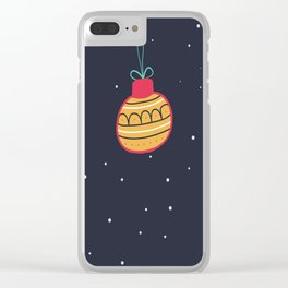 Merry Christmas and a Happy New Year Bauble Print Clear iPhone Case