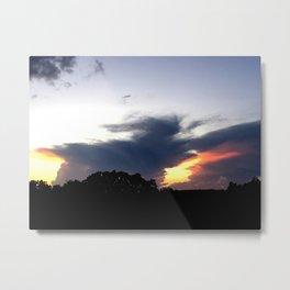 The Storm Clouds Retreat Metal Print