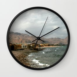 Beach on the Red Sea Wall Clock