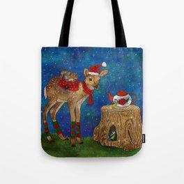 Christmas Tea Party Tote Bag