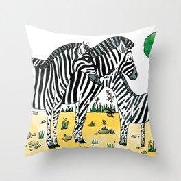 Noah's Ark - Zebra Throw Pillow