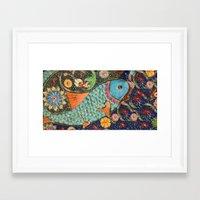 koi Framed Art Prints featuring Koi by Joke Vermeer