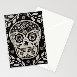 Day of The Dead   Día de los Muertos   Black & Tan Stationery Cards
