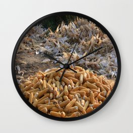 Sweet Corn and Husks Wall Clock