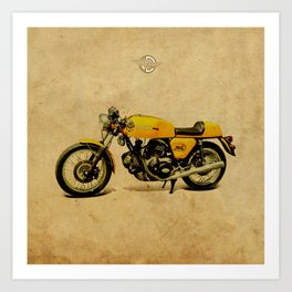 750 GT 1973 classic motorcycle Art Print