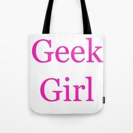 Geek Girl Tote Bag