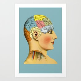 Phrenology Head Art Print