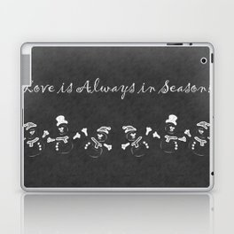 I Love You this Much Snowman Chalkboard Laptop & iPad Skin