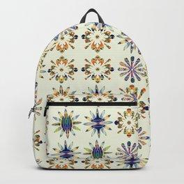 Geometric Patterned Flowers Backpack