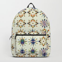 Geometric Patterned Flowers Backpack