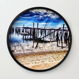 Provincetown Piers Wall Clock