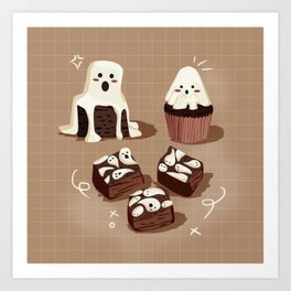 Ghost Spooky Desserts Art Print