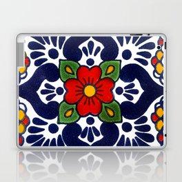talavera mexican tile in blu Laptop & iPad Skin