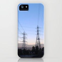 Electric Sky Line iPhone Case