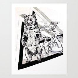 Time traveling troop of ruffians Art Print