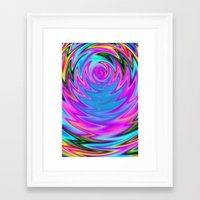 60s Framed Art Prints featuring Psychedelic 60s by Alice Gosling