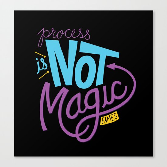 Process is Not Magic  Canvas Print