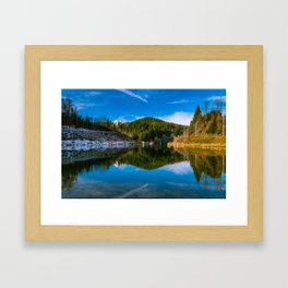 Autumn meets winter Framed Art Print