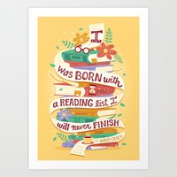 Reading list Art Print