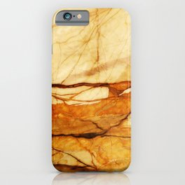 MARBLED ABSTRACT BEIGE ORANGE iPhone Case