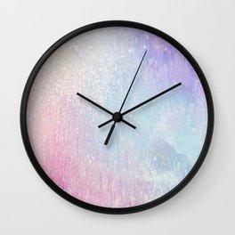 Holo Glitches Wall Clock