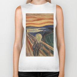 The Scream, Edvard Munch, classic painting Biker Tank