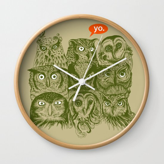 Wisdom to the Nines Wall Clock