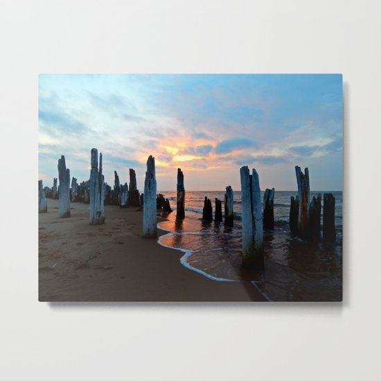 Pillars of the Past at Dusk Metal Print