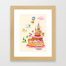 Ice Cream Castles In The Air Framed Art Print