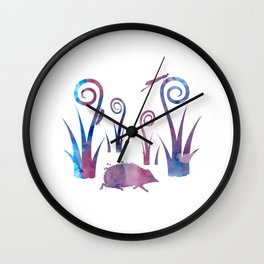 hedgehog and insects Wall Clock