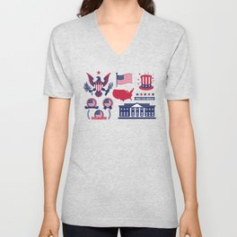 Proud To Be American Happy National Presidents Day Unisex V-Neck