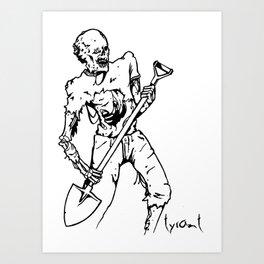 "TYRANT ""Trail Zombie""  Art Print"