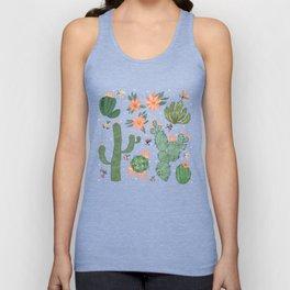 Succulents in Blue Unisex Tank Top